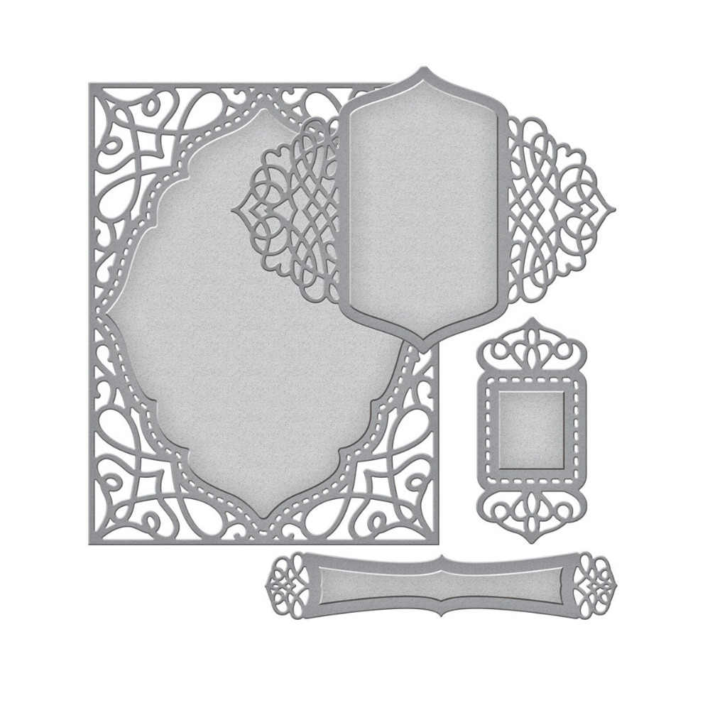 Swovo Nested lace frame Metal Cutting Dies for Scrapbooking Craft Paper Card Embossing Mould DIY Etched Die Cuts New 162*110mm
