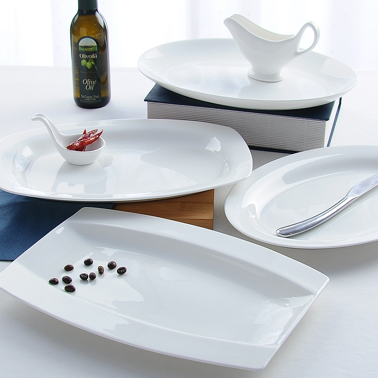 12 Inch Fine Bone China Serving Tray Ceramic Big Baking