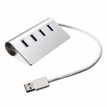 De alta Velocidad de 4 Puertos USB 3.0 Hub USB Divisor Hub de Aluminio Portable para Apple Para Macbook Air PC Portátil