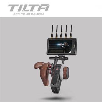 цена на Tilta Nucleus-M Multifunctional Arm Monitor Bracket Wooden handle FIZ Hand Unit Arri Rosette Adapter for video transmitter