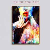 Sexy woman bedroom decoration wall art canvas painting abstract posters and painting decor living room background portrait pain