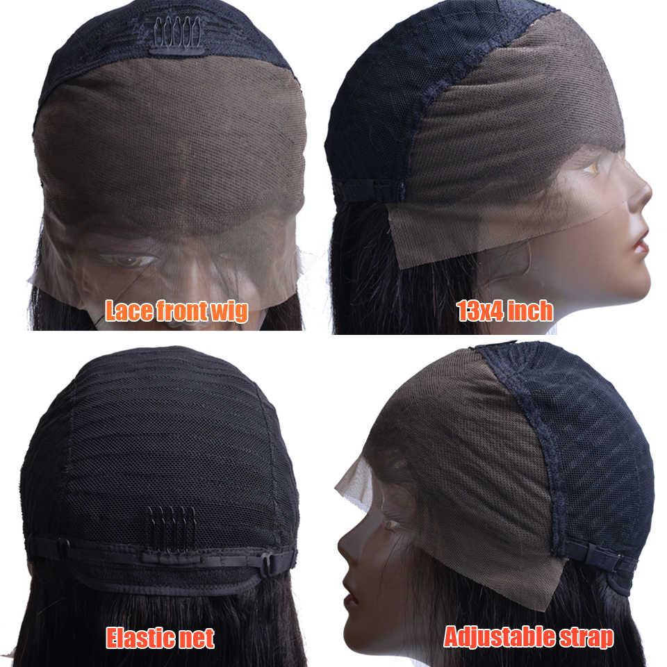 13x4 Dantel Ön İnsan Saç Peruk Siyah Kadın Için Koparıp Öncesi Remy Brezilyalı Düz Dantel ön peruk Ile Bebek saç Ağartılmış Knot