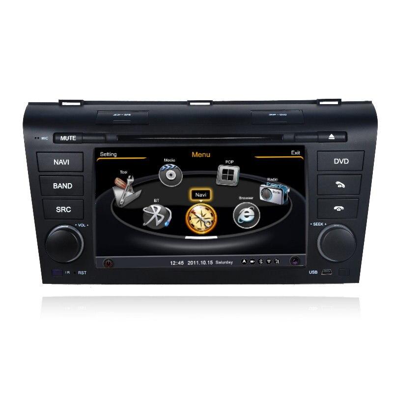 Pour Mazda 3 2003 ~ 2009-système de Navigation GPS de voiture + Radio TV DVD iPod BT 3G WIFI HD système multimédia d'écran
