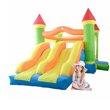 New Large Size Jumping Castle Double Inflatable Slide Inflatable Bouncers With Blower