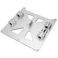Aluminium Y Wagen Eloxiert Platte Mit Sc8Uu Pgrade Prusa I3 V2 Heißer Bett Unterstützung Platte Für Prusa I3 Reprap Diy 3D Drucker Teil-in 3D Druckerteile & Zubehör aus Computer und Büro bei