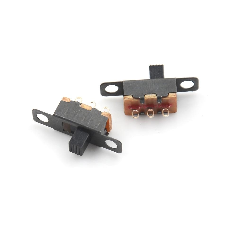 5pcs 5V 0.3 A Mini Size Black SPDT Slide Switch for Small DIY Power PK UK SELLER