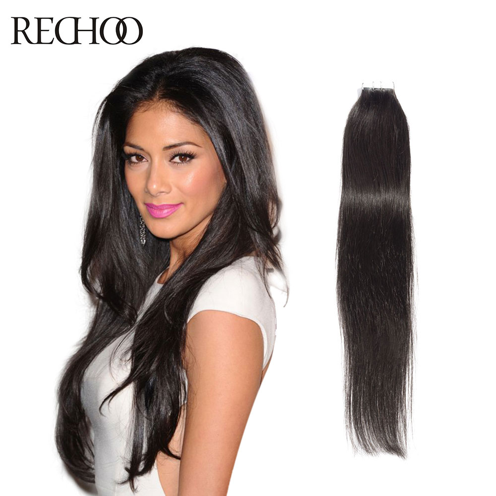 Rechoo hot sale tape hair extensions 20pcs brazilian virgin hair rechoo hot sale tape hair extensions 20pcs brazilian virgin hair skin weft hair extensions 16 24 inch tape in human hair in skin weft hair extensions from pmusecretfo Gallery