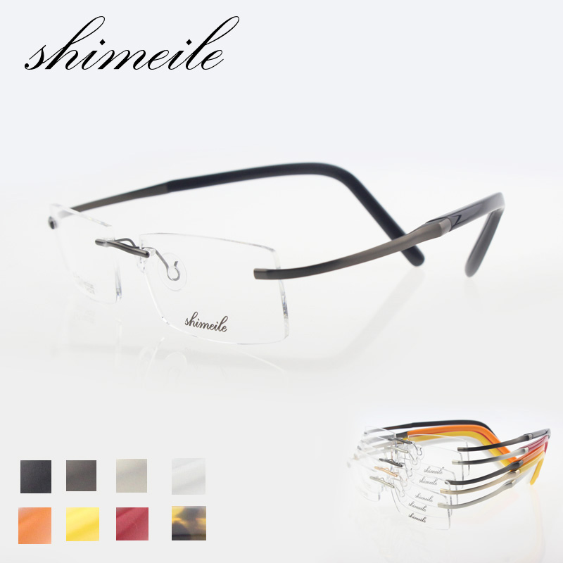 Rimless Glasses No Screws : titanium rimless glasses frame non screw eyeglasses high ...