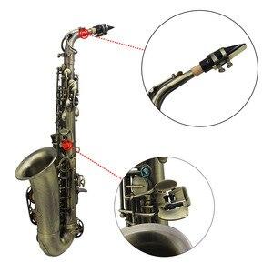 Image 5 - High Grade Antique Finish Bend Professional Eb E flat Alto Saxophone Sax Shell Key Carve Pattern  with Case Gloves Straps Brush