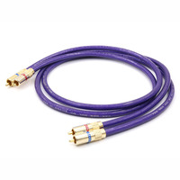 Pair Van den Hul MC SILVER IT 65 HIFI Stereo Pair RCA Cable High performance Hi Fi Audio 2rca to 2rca Interconnect Cable