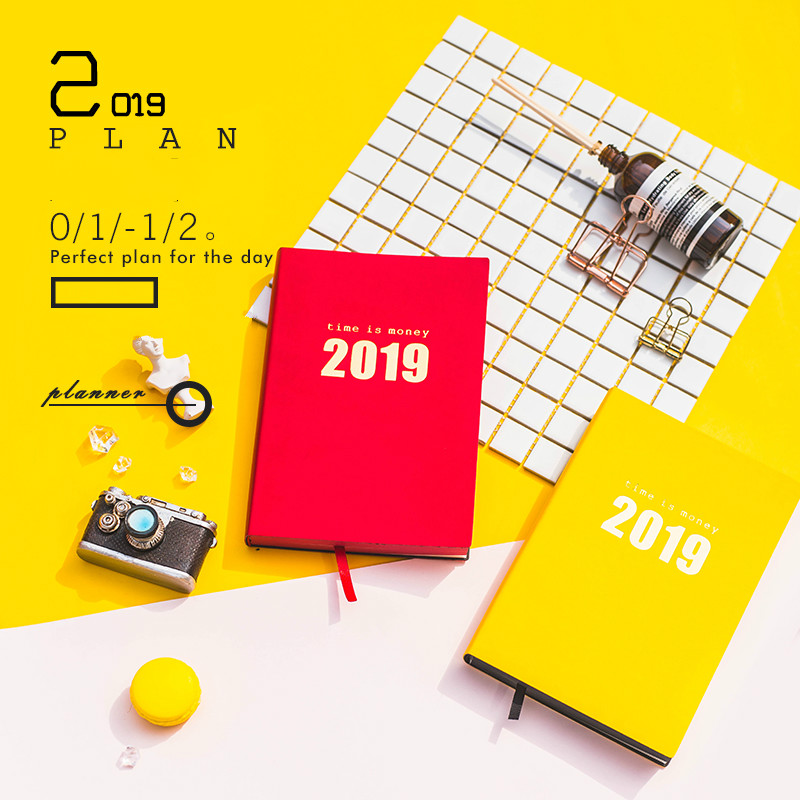 A5 Planner 2019 School Notebook Planner Daily Weekly Planner Notebook Personal Journal Diary 2019 Organizer Planner Agenda 2019 a5 cute notebook planner school stationery diary hobonichi cover daily weekly planner agenda travelers notebook bullet journal