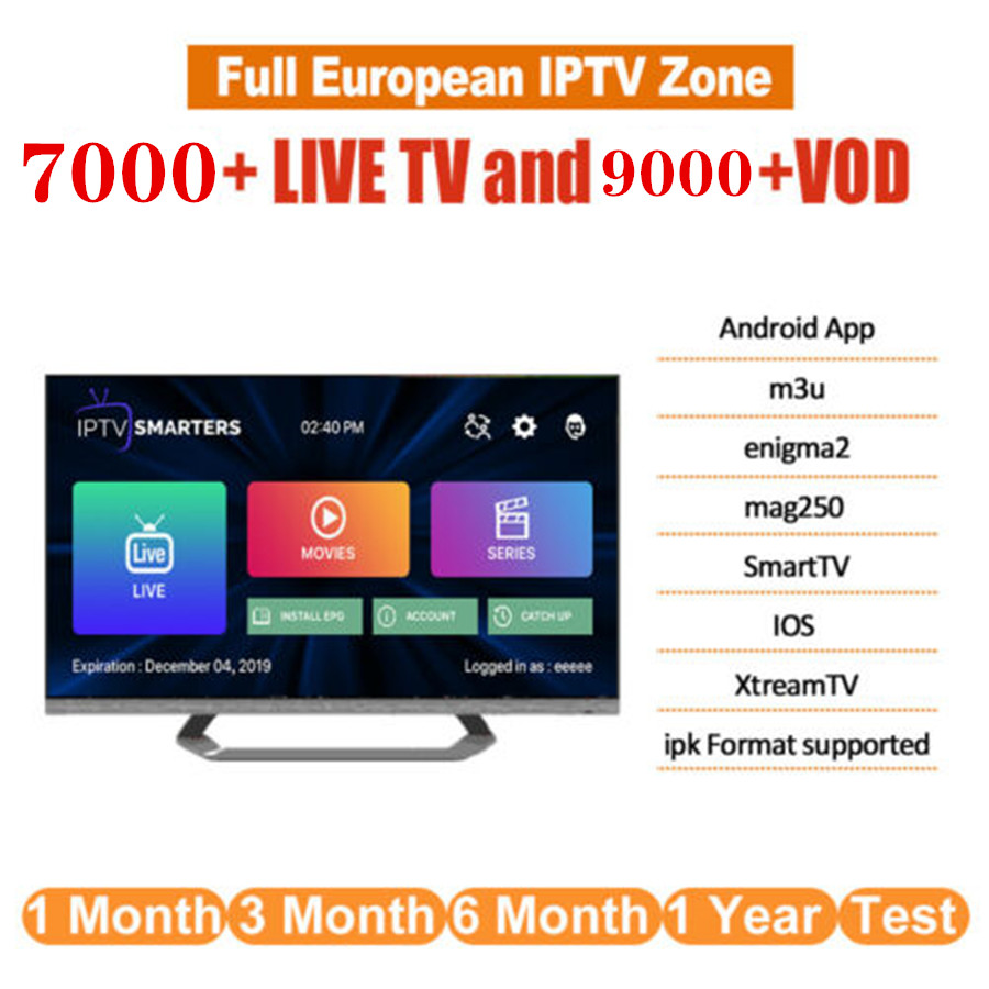 Android Smart TV Box with 7000+ Channel Europe Arabic French Belgium IPTV  subscription LEADTV for M3U APK France Belgian Arabic
