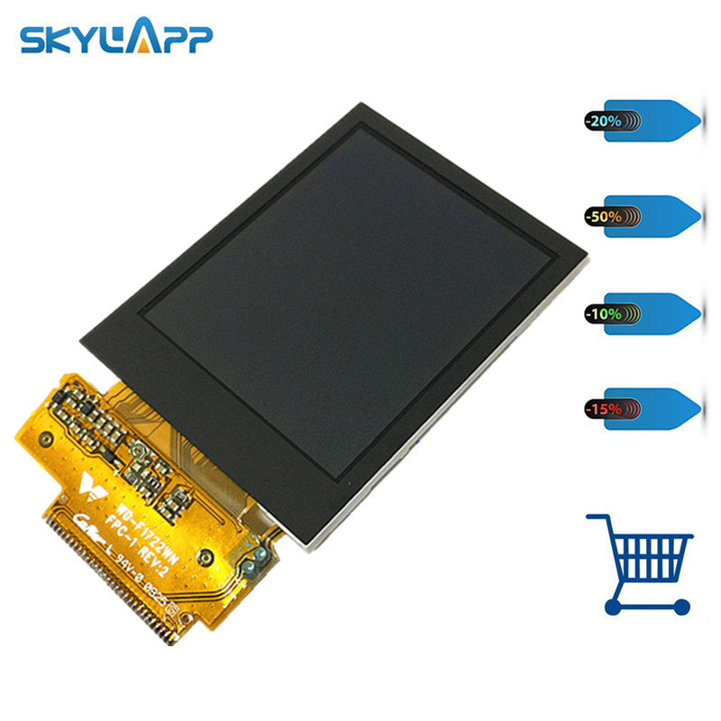 skylarpu 2.2 inch WD-F1722WN FPC-1 REV:2 LCD for Garmin edge 705 GPS Bike Computer LCD display screen panel (without touch) skylarpu 2 6 inch for garmin edge 810 800 handheld gps navigation lcd screen replacement without backlight without touch