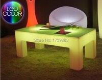 Прямоугольник световой журнальный столик свет Таблица водонепроницаемый мебель для гостиной роскошный отель/KTV/гостиная/бар таблицы