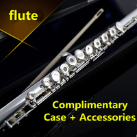 Western Concert 16 Closed Holes C Key Flute E Get FREE Case And Accessories Flauta Video Evaluation Wind Instruments