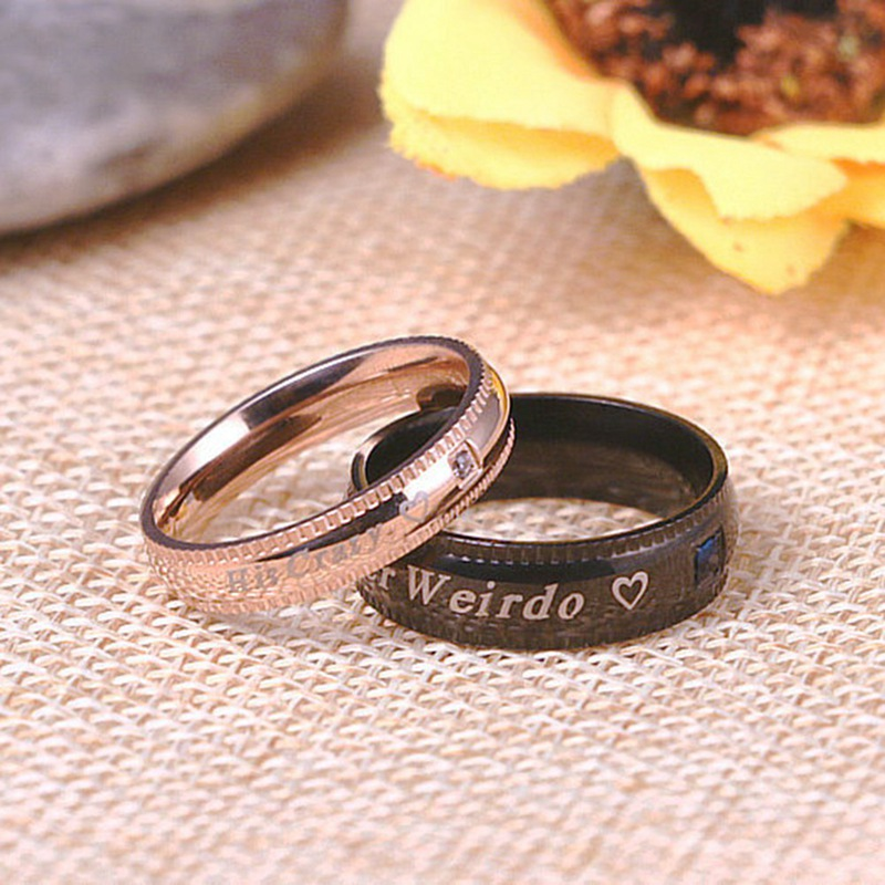 New Fashion Modern Style Couple Ring Wedding Band Anniversary Engagement Promise Ring Titanium Steel Ring