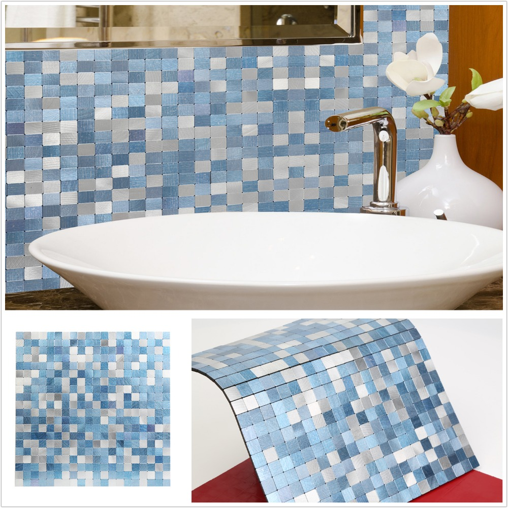 2019 Homey Mosaic New Design Sky Blue Peel and Stick ...