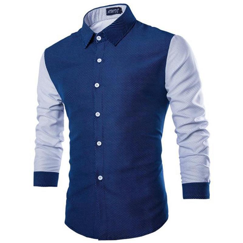 Men Slim Fit Dress Mens Cotton Shirts Celebrity Fashion Business Casual Long Sleeve Fomal Male Tuxedo Plaid Shirt Top 15
