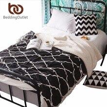 Beddingoutlet negro sherpa manta super suave y cálida manta de tiro de la tela escocesa reversible colcha 150 cm x 200 cm 200 cm x 230 cm battaniye