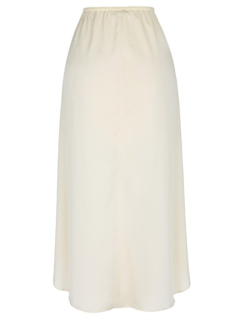 Champagne mujeres falda faldas ol moda causal saia falda aline satinado slip cintura caderas medio slip negro midi faldas