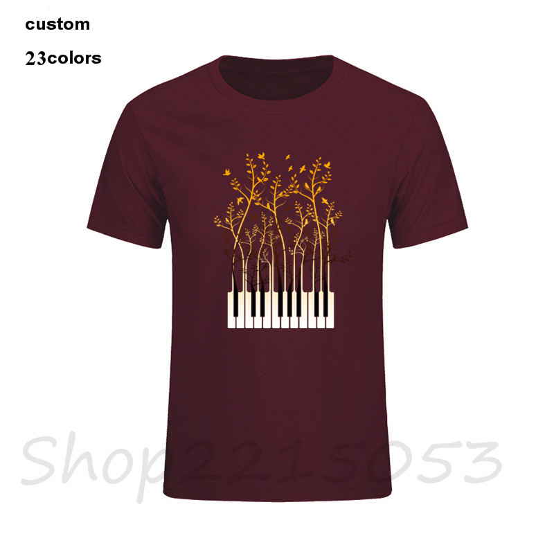 Creative Design Composer Music Note Piano Pianist T-Shirt Men DJ Thanksgiving Day Custom Party team t Shirt male tshirt guitar image