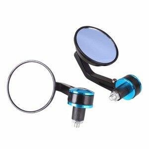 Image 5 - 1 пара, 7/8 дюйма, 22 мм, круглый алюминиевый велосипедный наконечник зеркала заднего вида для велосипеда, руль 22 мм