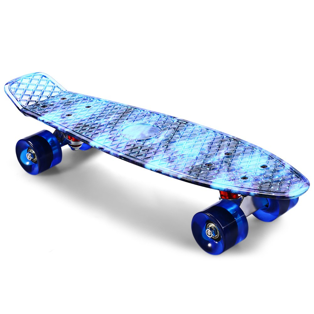 skate planche et roues led bleu de l s product. Black Bedroom Furniture Sets. Home Design Ideas