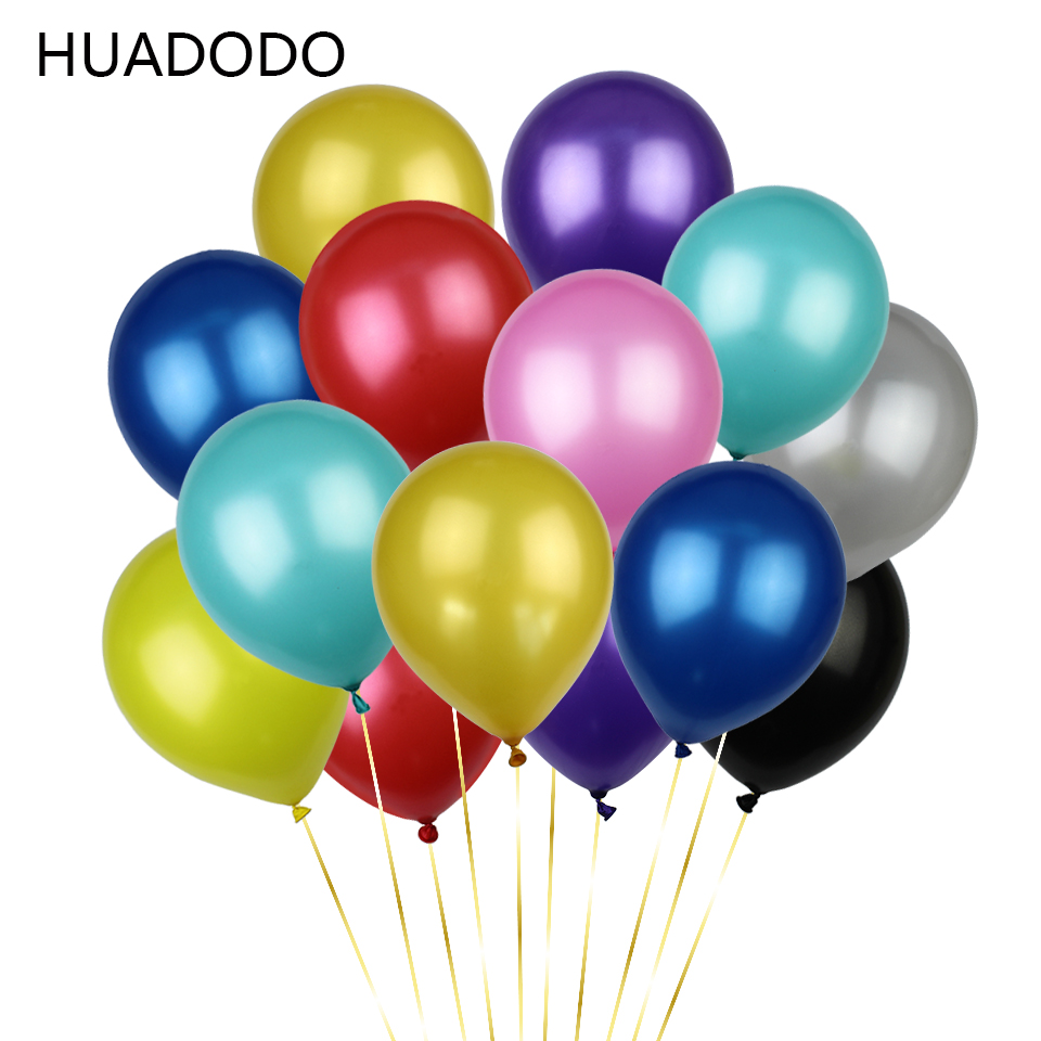 HUADODO 12inches 2.8g Pearl Latex Balloons Air Balls Party balloon for Wedding Party decoration Baby shower balloon Art 10PCS