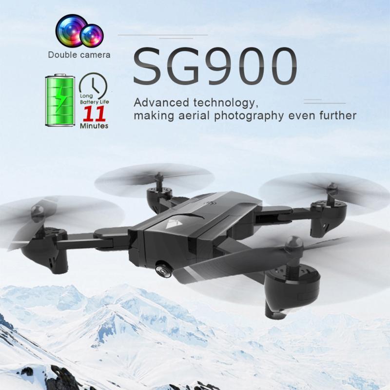 SG900 składany Quadcopter 2.4GHz 720 P/1080 P HD Drone Quadcopter WIFI FPV drony zdalnie sterowany dron helikopter z kamerą w Helikoptery RC od Zabawki i hobby na  Grupa 1
