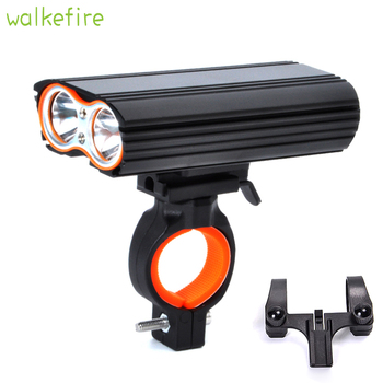 Rainproof Bicycle Lights 2 XM-L T6 LED Lumiere velo USB Rechargeable Led Lamp Torch Flashlight Cycling Sports safety Tail light