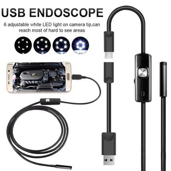6LED 5.5mm Hose USB Mobile Phone Endoscope Hard Tube Channel Air Conditioning Auto Repair Camera