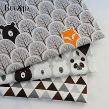 Tela de sarga de algodón impresa serie de osos niños 100% tela de algodón por metro para costura DIY cama de tapicería acolchado Material de algodón