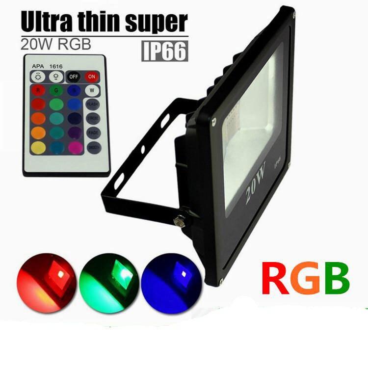 (10 шт./лот) rgb светодиодные прожекторы наружного освещения 10 Вт 20 Вт 30 Вт 50 Вт светодиодные прожекторы пейзаж Освещение AC 110-240 В и кабель питан... ...