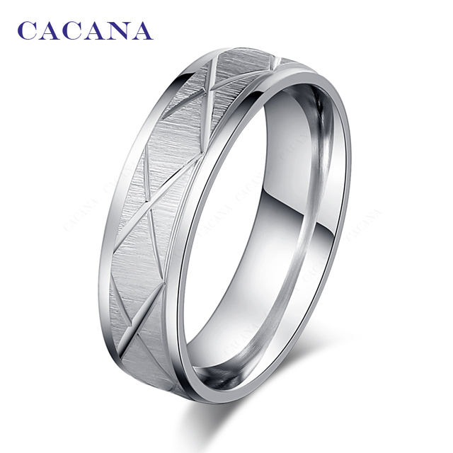 CACANA Titanium Stainless Steel Rings For Women X Sign Fashion Jewelry Wholesale