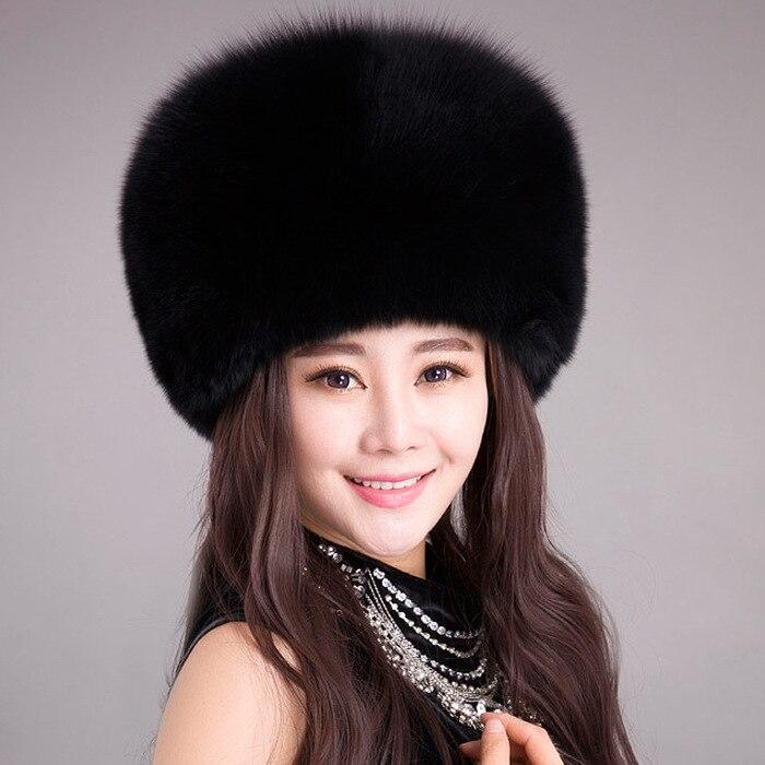 9438aec1d6a High Quality 11 Colors Faux Fox Fur Cap Bomber Women Men Winter Russian Hat  Ear Protection