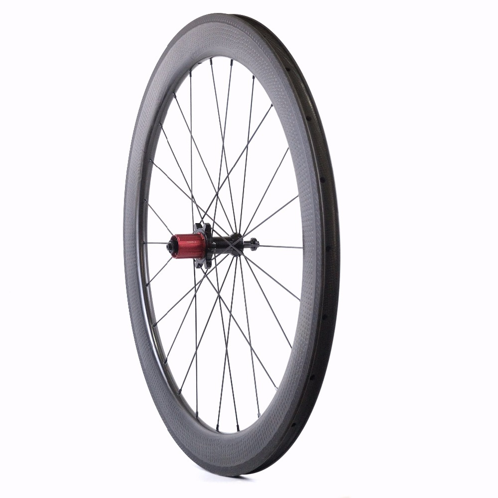 Image 4 - 20%Off Special Brake Surface Dimple Aerodynamic Carbon Wheels 2 Year Warranty 58mm Tubeless Road Bike Carbon Wheeldimple carbon wheelsroad bike carbon wheelsetbike carbon wheels -