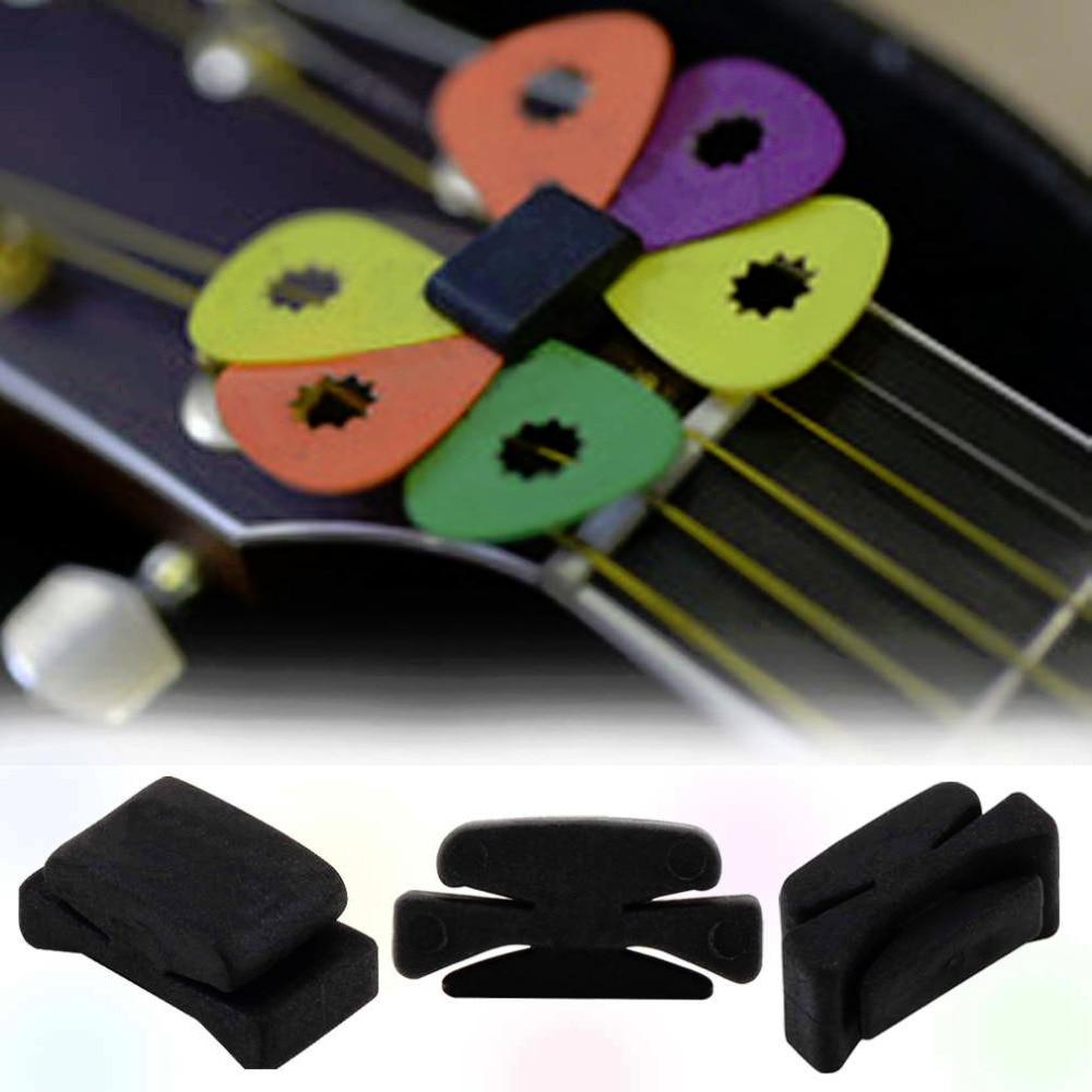 3 pcs Professional 25 x 11 x 11mm Guitar HeadStock Pick Holder Rubber font b Musical
