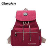 Бренд для девочек-подростков плечо мешок школы Водонепроницаемый нейлоновый рюкзак путешествия элегантный дизайн Для женщин Drawstring Рюкзак Mochila Feminina
