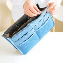 Storage Bags Women Travel Insert Handbag Organiser Purse Organizer Tidy Bag Nylon Large Capacity Cosmetic Makeuo Portable