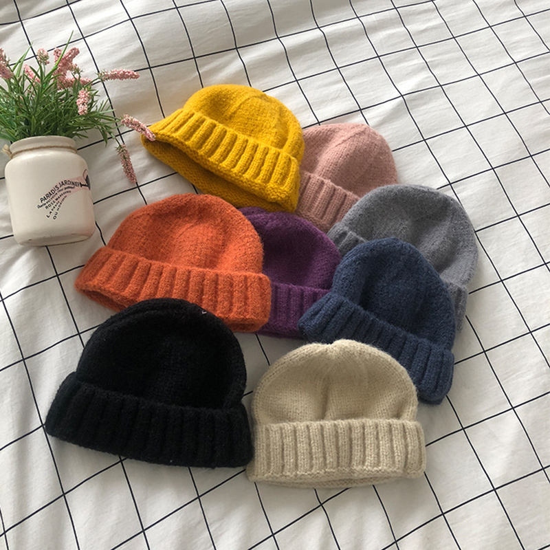 ROSASSY Popular Knitted Beanies Winter Hats Cap for Men Women High Quality Chenille Hip Hop Hat Street Boy Hats