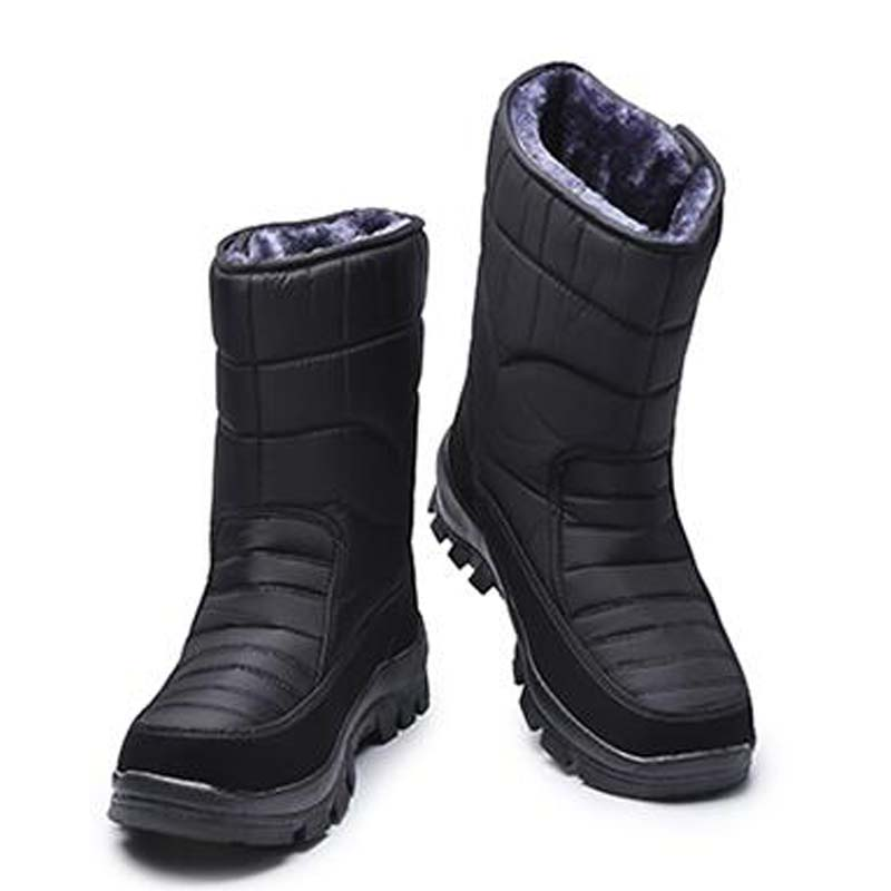 Dicken schnee stiefel Hohe Männer Große männer outdoor herren stiefel baumwolle gepolsterte schuhe schnee ski stiefel size40-44 M247