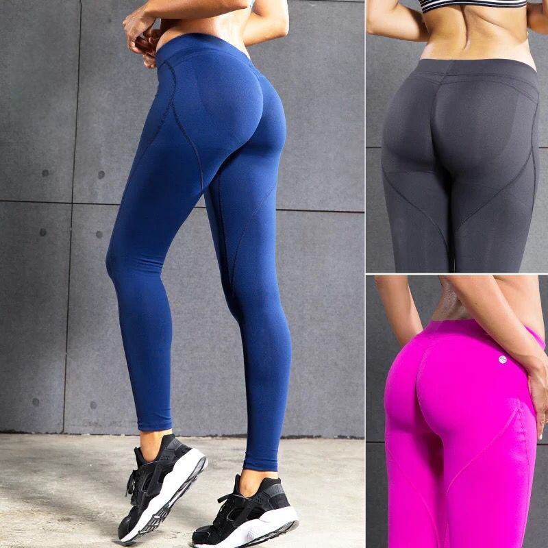 Fitness Yoga Pants Women Sexy Hips Push Up Leggings Quick Dry Running Tights Sports Gym Workout Pants Sportswear Female Trousers все цены