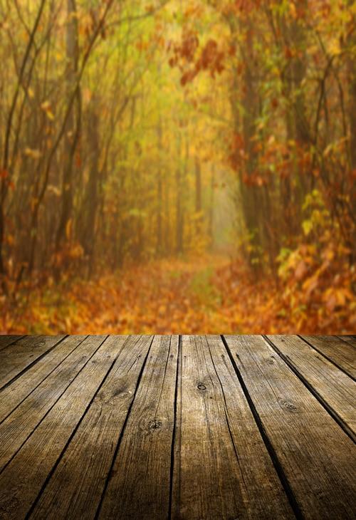 Fall Wooden Wallpaper Huayi Fall Photography Wood Floor Backdrop Autumn