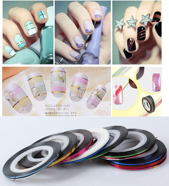 Manicure Gold And Silver Thread Painting Line Rolls Striping Nail