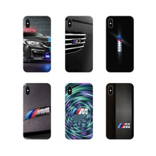 BMW M Series logo For Apple iPhone X XR XS MAX 4 4S 5 5S 5C SE 6 6S 7 8 Plus ipod touch 5 6 Accessories Phone Shell Covers(China)
