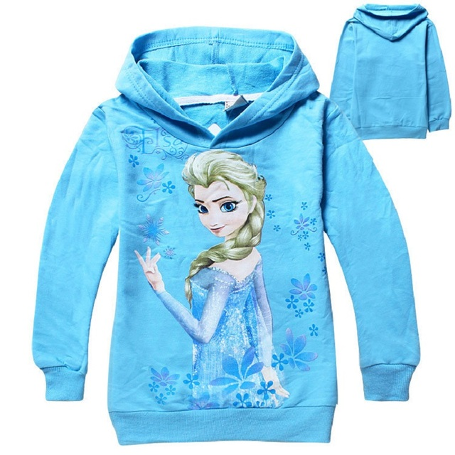 Children's Spring Long Sleeve Sweater Elsa Anna Snow White Car Cartoon Printing For Girls Boys 6 7 8 years Kids hoodies Clothing 1