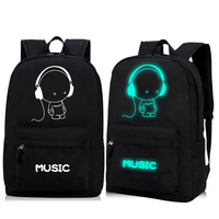 2016 High Quality Oxford Night Fluorescent Light School Backpacks For Teenagers Child School Bags Boys Girls