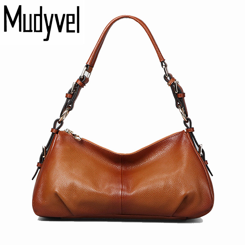 New Luxury Handbags Women Bags Designer 100% Genuine Soft cow Leather ladies Shoulder bags Vintage cross tote bag for women ladies genuine leather handbag 2018 luxury handbags women bags designer new leather handbags smile bag shoulder bag