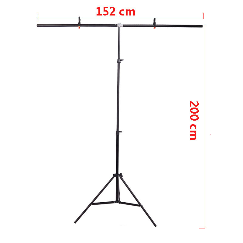 Background Support Photography big PVC Background Holder Stand System Metal with 3 clamps 152cm X 200cm
