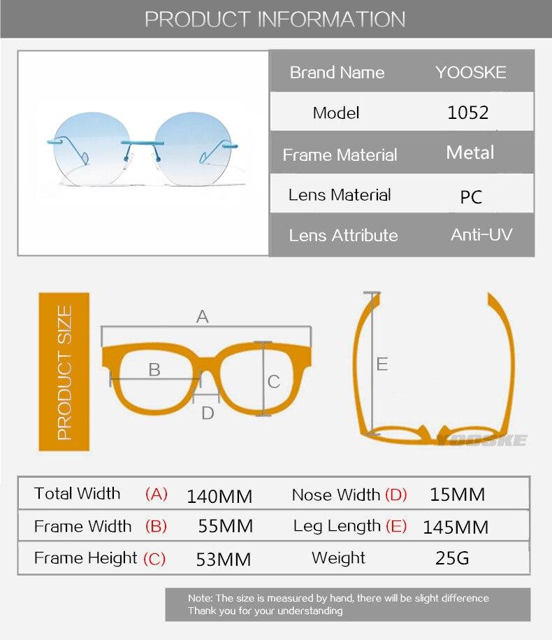 186f81d187 Comprar ahora. Eyesilove customized myopia glasses for men women rimless  frame ...